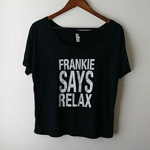 Bella + Canvas Frankie Says Black t-shirt